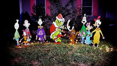 Grinch WHOVILLE SET Yard art The Grinch and Max are stealing Christmas!!