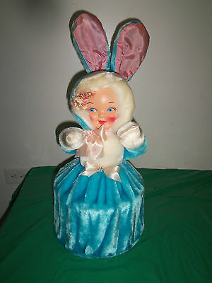 Vintage Rubber Face Plush Doll Pajama Bag, W/rabbit Ears