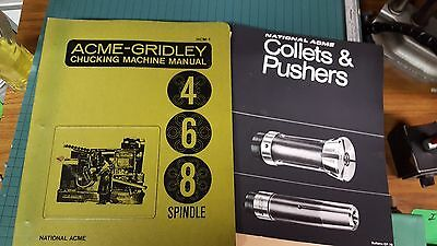 Acme Gridley Manuals