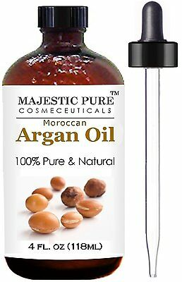 A Moroccan Argan Oil For Hair And Face From Majestic Pure (118 Ml) 100% Natural