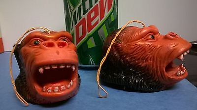 vintage monster rubber STRING KING KONG HEAD premiums 1970s old