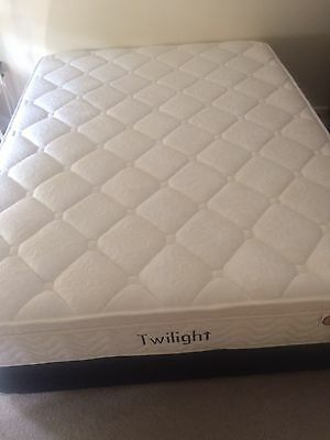 King Single Size Bed and Base - Rarely Used, As New.