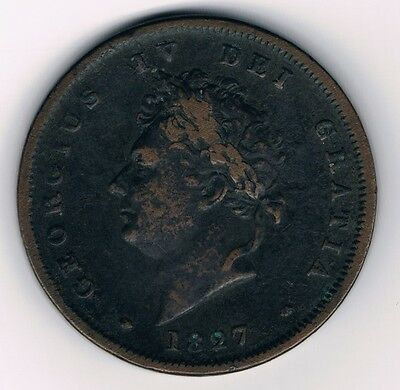 GREAT BRITAIN • Scarce George IV 1827 Penny