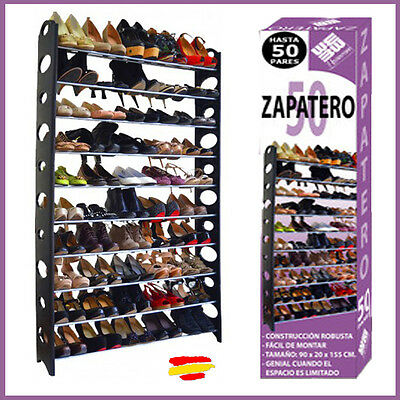 ZAPATERO para 50 PARES  SHOE RACK 10 BALDAS Mueble desmontable Visto en TV