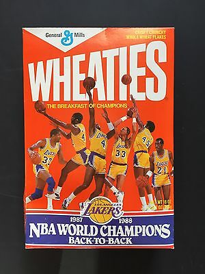 Wheaties Cereal Los Angeles Lakers UNOPENED 1987-1988 NBA World Champion Vintage