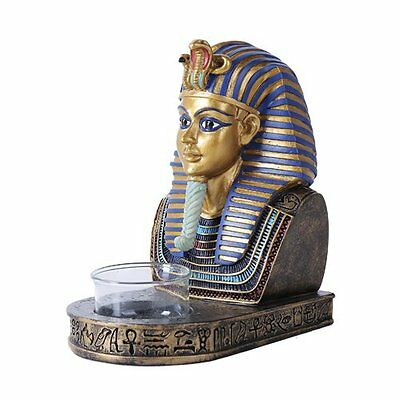 5.5 Inches Ancient Egyptian King Tut Tutankhamun Golden Bust Candle Holder