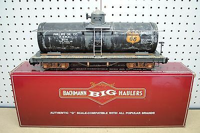 BACHMANN 93431 Phillips 66 Single Dome Tank Car *G-Scale* Weathered