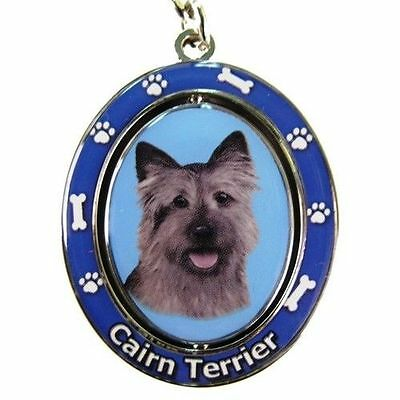Cairn Terrier Dog Spinning Key Chain Fob