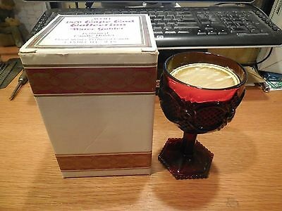 Avon 1876 Cape Cod Collection Water Goblet w/ Floral Medley Perfumed Candle