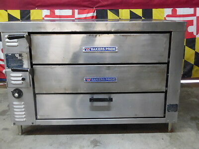 Bakers Pride GP-61 Double Deck Gas Ovens with Stones