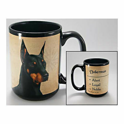 Doberman Pinscher Faithful Friends Dog Breed 15oz Coffee Mug Cup