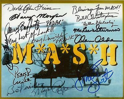 Mash Cast Reprint Autographed Signed Picture Photo Auto Collectible Rp Tv Show