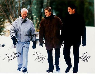 Gordie Howe Wayne Gretzky Mario Lemieux Reprint Autograph Signed Picture Photo