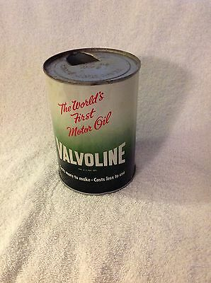 Freedom-Valvoline Quart Motor Oil Can Soldered Seal - Nice!