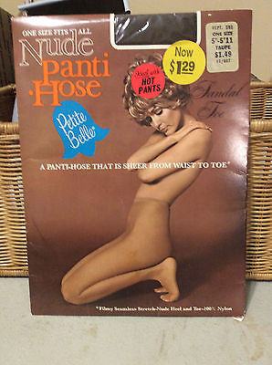 Vintage pette belle taupe nude pantyhose w/ model one size