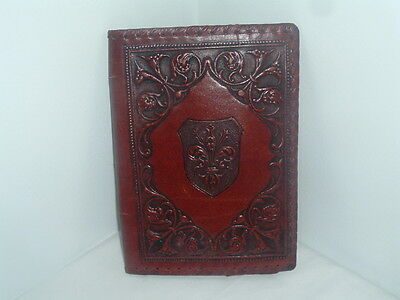 "Vintage Leather Book Cover For 10"" X 6 1/2"" Hardcover Book Binding"