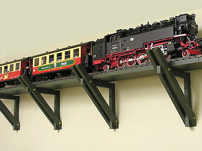 Overhead G-Scale Train Brackets and Roadbeds for Indoor Use - 1 Complete Layout