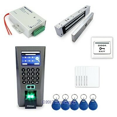 Fingerprint And RFID Card Access Control System With Magnetic Lock + PC Software