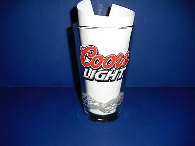 """Collectible """"Coors Light"""" pint size glass with mountains"""