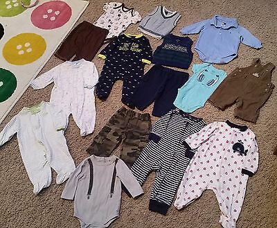Huge lot of Baby Boy Clothes Size 0-6 Months