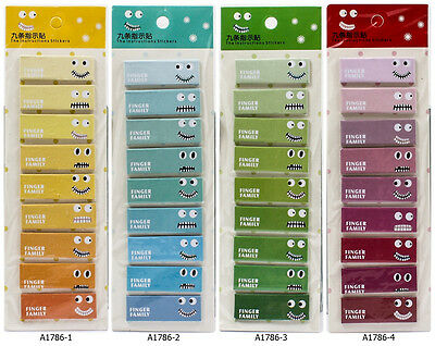 Cute Cartoon Face Emoticon Post It Marker Memo Index Tab Sticky Note Flag A1786