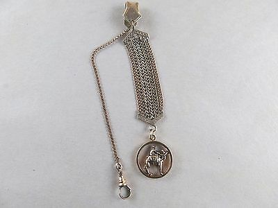 Victorian Watch Chain Gold Filled with Camel Watch Fob [2538]