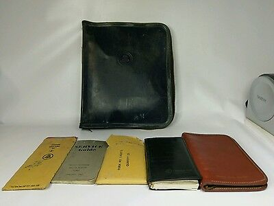 Vintage Bell System Zipper Binder w Extras Stencil kit, Notebooks, Forms & More