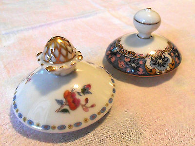 2 VTG French Porcelain LIDS ONLY Replacement, Anc. Manufacture Royale de Limoges