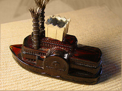 Avon Decanter Side Wheeler Riverboat Empty