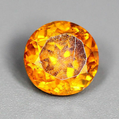 0.91 Cts_World Class Rare Portugal Cut_100 % Natural Sphalerite_Sunset Orange !!