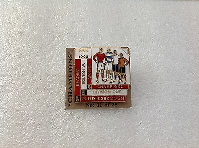 1994/95 Middlesbrough Champions Top Four Finishers Badge