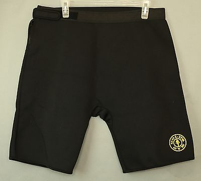 GOLDS GYM COMPRESSION WORKOUT WEIGHT LIFTING SHORTS SZ L/XL Neoprene Polyester