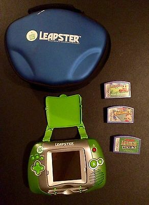 Leap Frog Leapster Learning System Handheld Console With 3 Games and Case