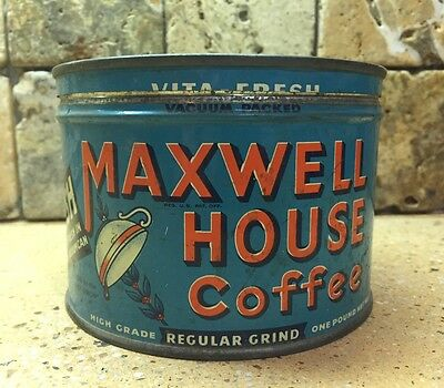 Vintage Maxwell House One Pound Coffee Can
