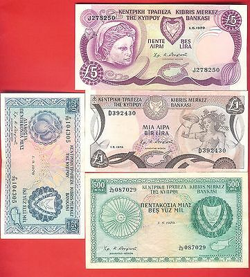 VARIOUS CYPRUS POUND BANKNOTES 1979 - Circulated.