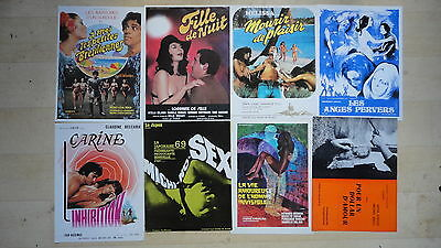 Lot D'affichette Erotique De Cinema