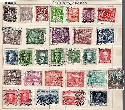 Czechoslovakia group of stamps from an old album