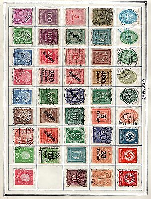 Germany 2x groups of stamps (back to back) from an old album inc overprints