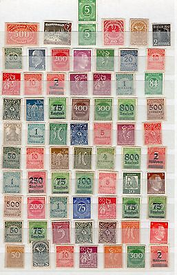 Germany 2x pages of mint issues inc overprints see scans x2