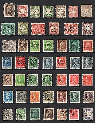Germany States Bayern page of stamps see scans x2