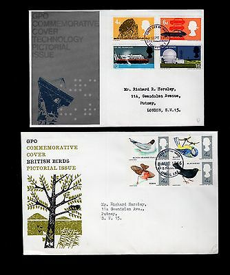 Great Britain 2x 1966 commemorative FDC see scans x2