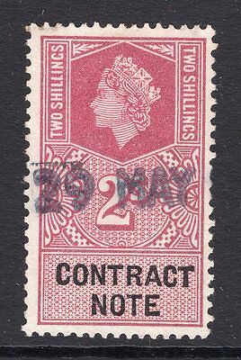Great Britain QV 2/- contract note issue see scans x2