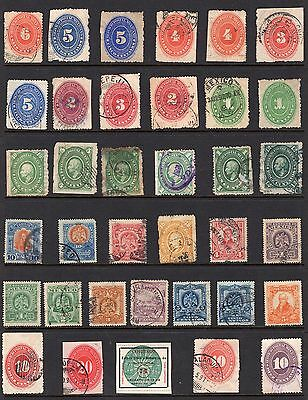 Mexico page of stamps from an old album inc imperf see scans x2