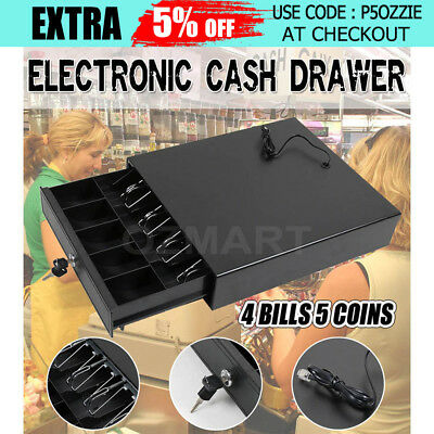NEW Electronic Heavy Duty Cash Drawer Cash Register POS 4 Bills 5 Coins AU