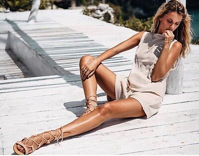 Wanted Lace Up Sandals- Size 6.5 - Camel