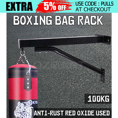 Boxing Bag Rack Heavy Duty Punch Steel Mount Hanging Boxing Stand Exercise AU