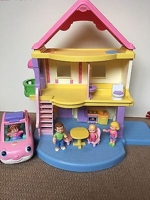 Fisher Price my first dollhouse with bonus Fisher Price Little People Car