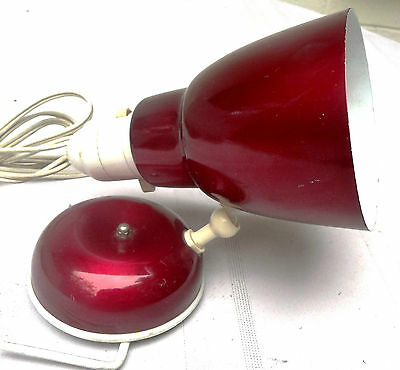 Vintage Red Anodised bed Lamp