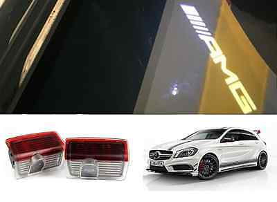 Amg Logo Under Door Led Puddle Projector Ghost Lights Mercedes Benz W205 W176