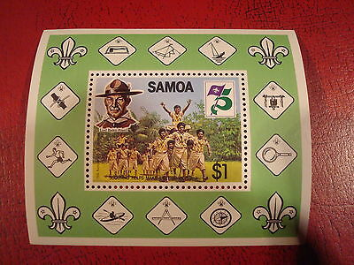 Samoa - Scouting Anniversary - Minisheet - Unmounted Mint - Ex. Condition